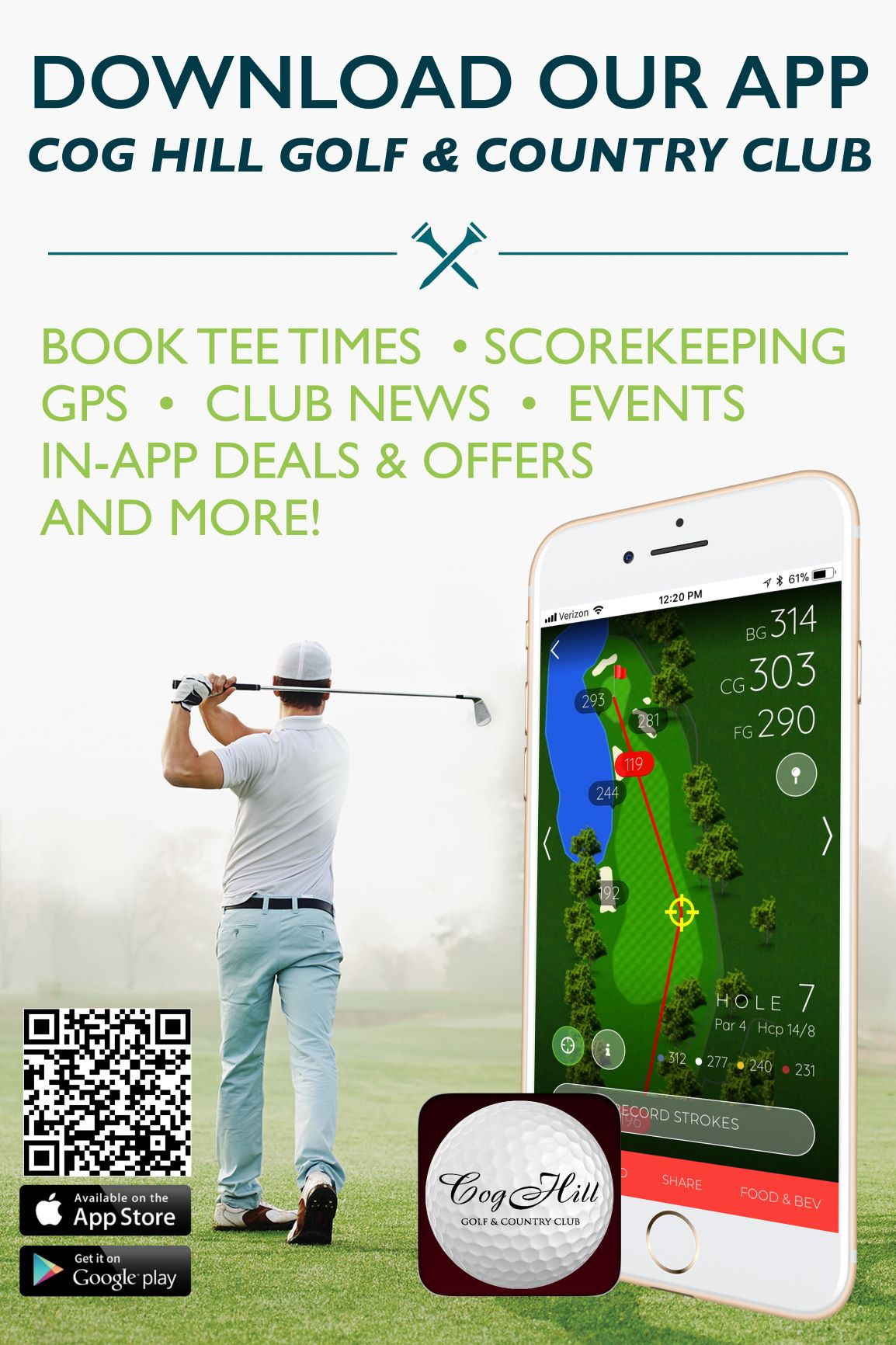 Gallus Golf App Poster